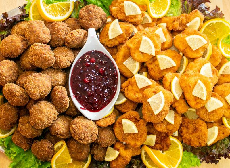 Catering Imbiss Mahlzeit Bad Leonfelden Schnitzelplatte